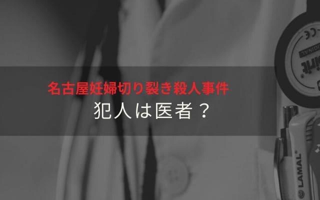 名古屋妊婦切り裂き殺人事件: 手口から犯人は医者?