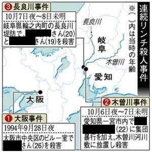 大阪・愛知・岐阜連続リンチ殺人事件の概要