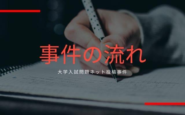 大学入試問題ネット投稿事件: 事件の流れ