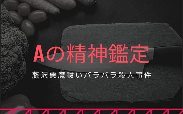 藤沢悪魔祓いバラバラ殺人事件: Aの精神鑑定