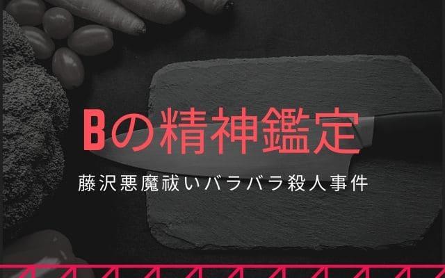 藤沢悪魔祓いバラバラ殺人事件: Bの精神鑑定