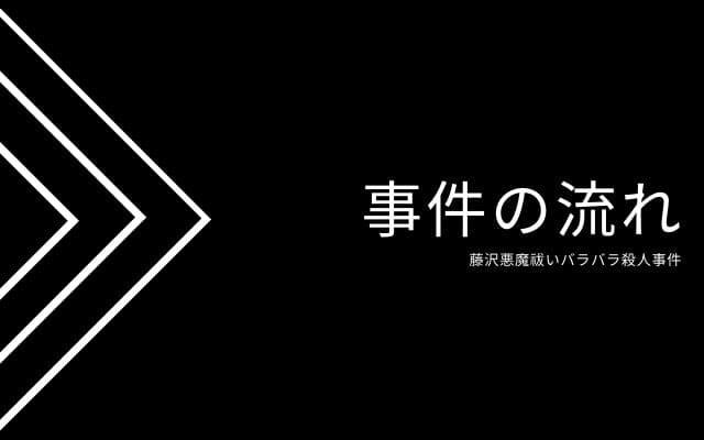 藤沢悪魔祓いバラバラ殺人事件: 事件の流れ