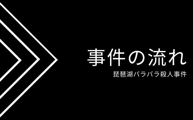 琵琶湖バラバラ殺人事件の事件の流れ