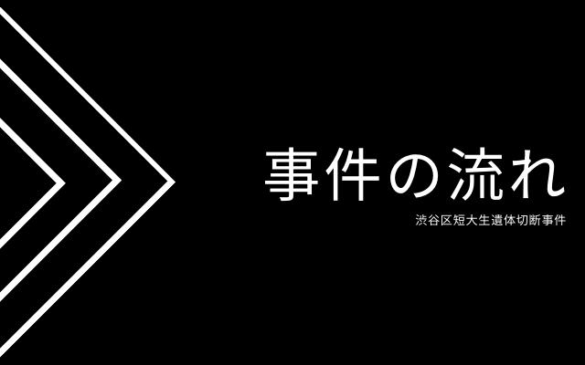 渋谷区短大生遺体切断事件の流れ